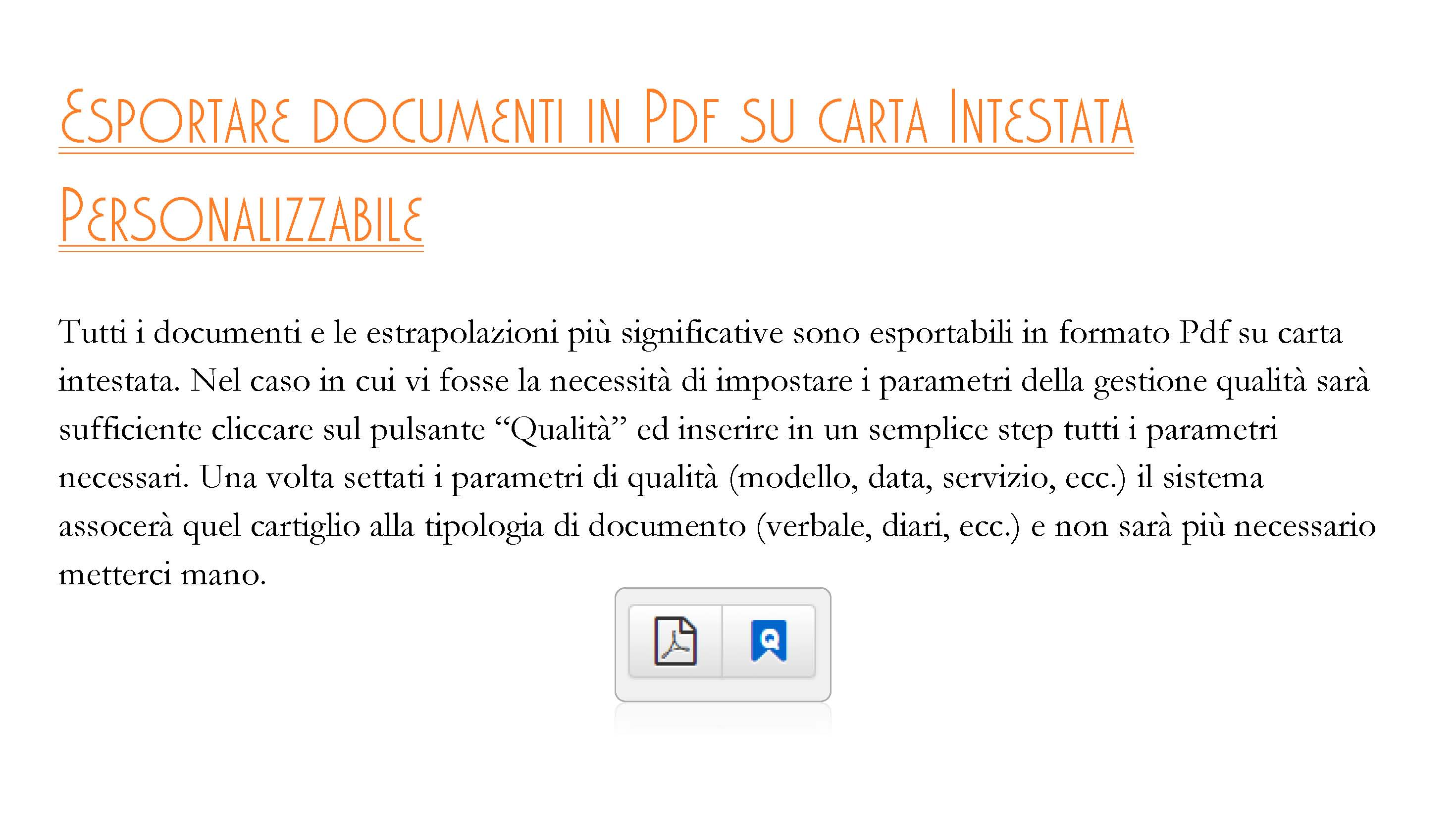 Esportare documenti in PDF su carta intestata personalizzabile